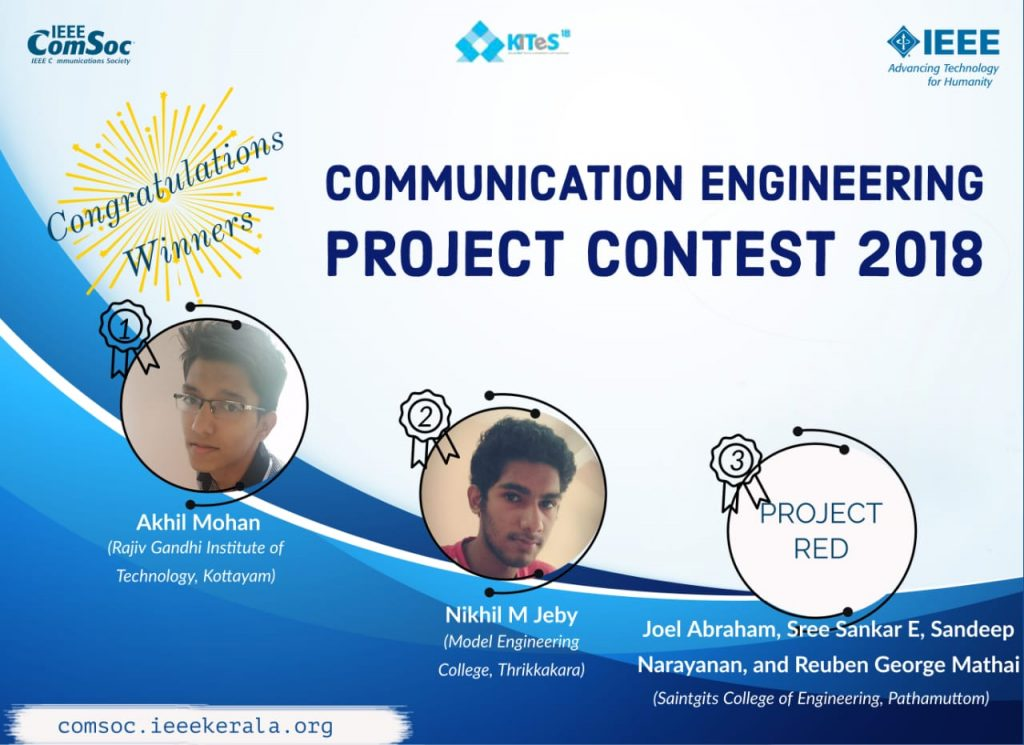 Winners of the ComSoc Project presentation competition