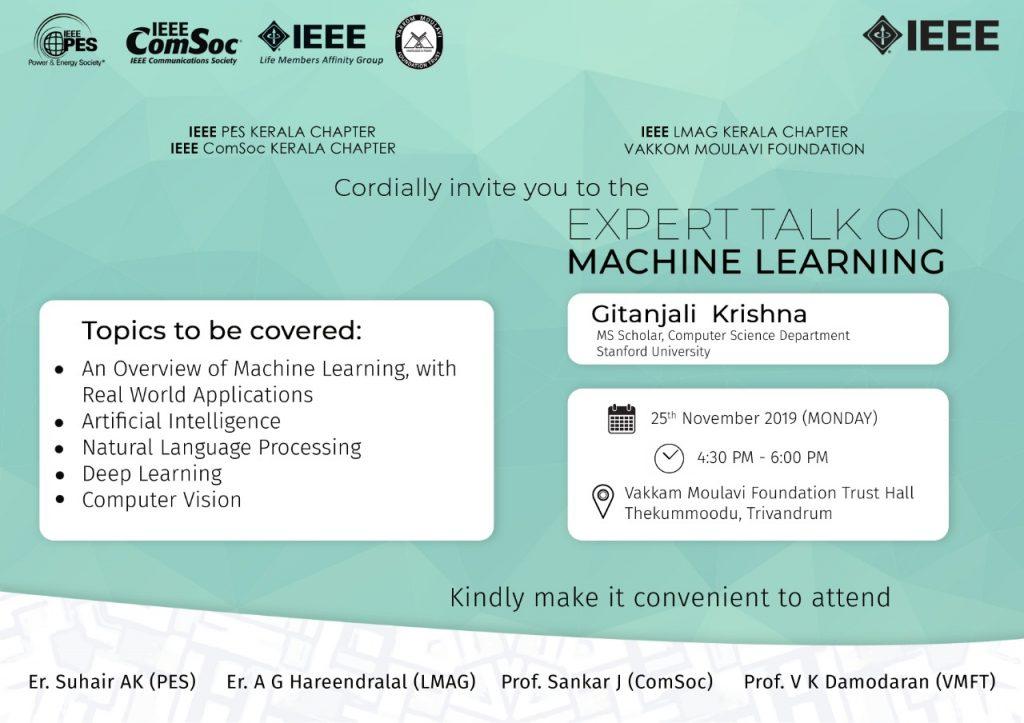 Expert Talk on Machine Learning